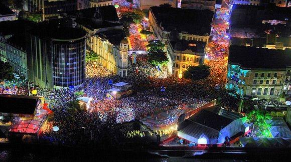 Carnaval em Recife - Marco Zero. - Pernambuco