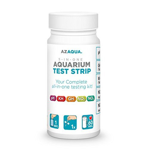 AZAQUA Accurate 5-in-1 Aquarium Test Strip, Supports Freshwater and Saltwater Fish Tank, 25 count >>> Be sure to check out this awesome product.
