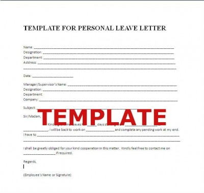 Medical Leave Letter Template