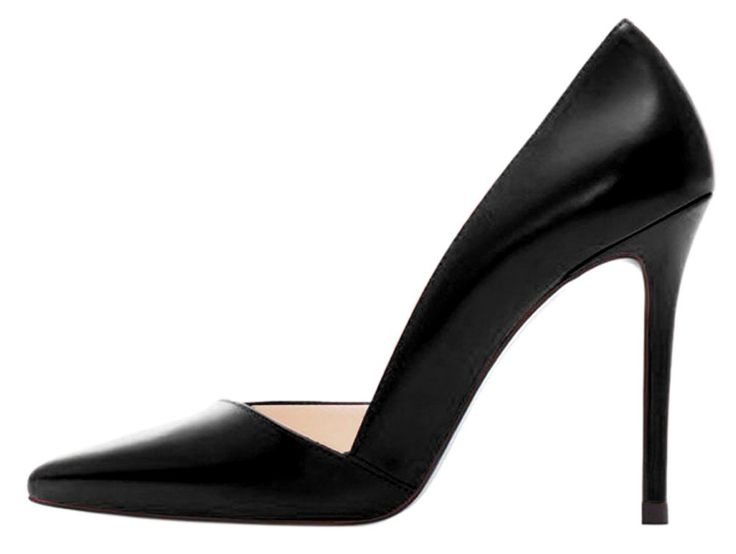 Guoar Women's Stiletto Heel Big Size Court Shoes Pointed Toe  D'Orsay&TwoPiece PU