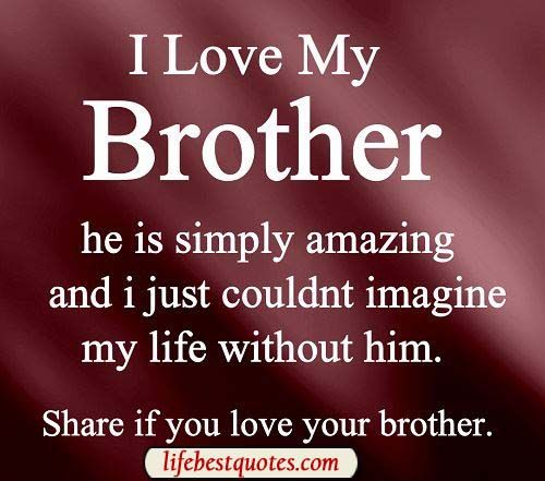 Quotes In Brother: I Love My Brother Quotes For Facebook