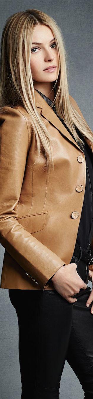 Black Label Bonded-Leather Vivien Jacket LOOKandLOVEwithLOLO: Ralph Lauren Black Label New Arrivals