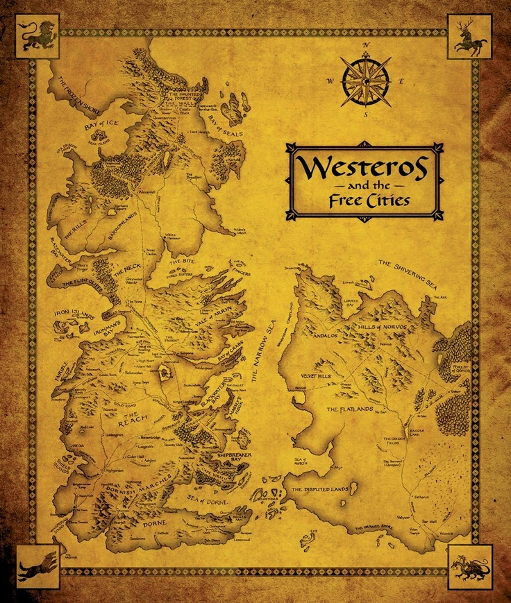 Game Of Thrones Map Westeros and
