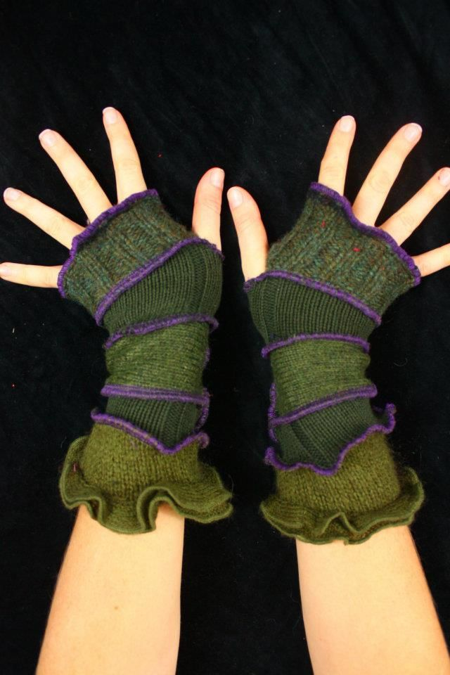 arm warmers from #recycled sweaters