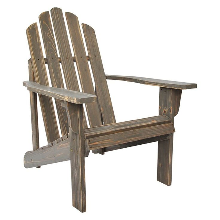 Outdoor Shine Company Rustic Yellow Cedar Adirondack Chair Vintage Gray - 5618VG