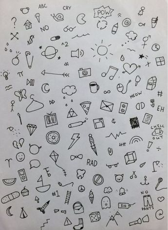 Mini Things To Draw : things, Things, Right, Doodle, Tattoo,, Simple, Doodles