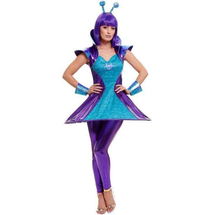 Alien Lady Costume Adult Multi in 2020 | Alien costume ...
