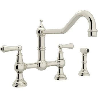 rohl perrin u0026 rowe inca brass two handle bridge kitchen faucets