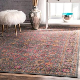 For Nuloom Traditional Lily Fl Grey Rug 8 X 10