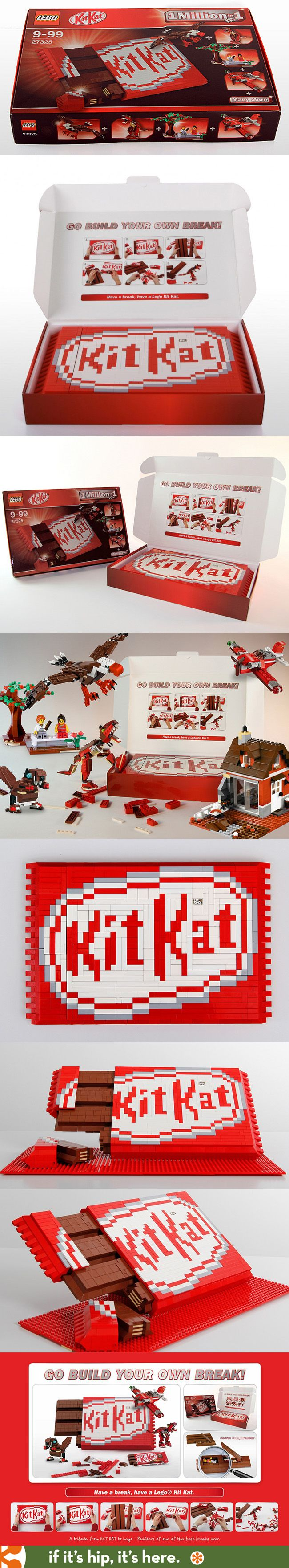 Kit Kat Does A Tribute To Lego (details at the link)