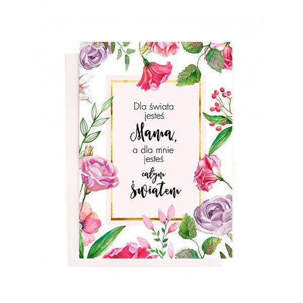 Kartka - Mama - na Dzień Matki - lemonducky - Kartki na Dzień Matki