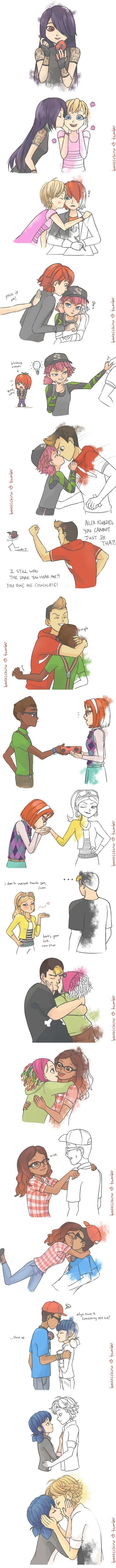 ♡ Miraculous comic ♡ Adrien x Marinette, Ladybug X Chat Noir + Inni