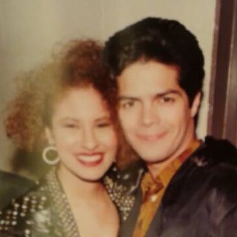 #Tbt Selena and Esai Morales photo shared by Rudy R. Trevino backstage at the…