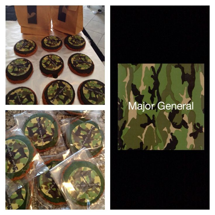 Army themed biscuits / party pack