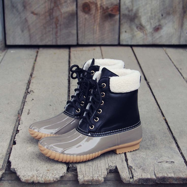 The Cozy Duck Boot in Black, Fall & Winter Duck Boots from Spool No.72 | Spool No.72
