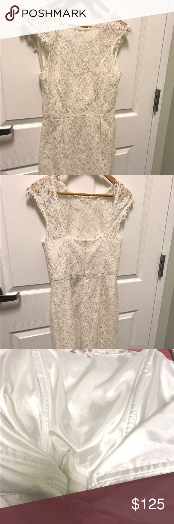 Shoshanna Ivory Scarlett Dress Ivory Scarlett Dress, excellent condition. Worn once! The bodice has boning and support so no bra is needed. Shoshanna Dresses Mini