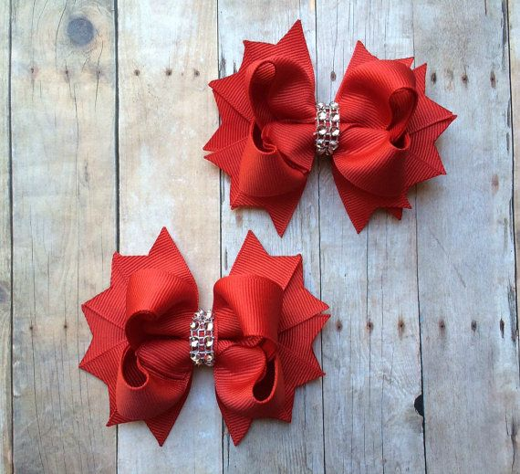 Hey, I found this really awesome Etsy listing at https://www.etsy.com/listing/249358106/christmas-bows-christmas-hair-bows-red