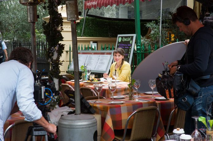 Behind the scenes from my latest show Rachel Khoo's Kitchen Notebook Melbourne #RKKNM