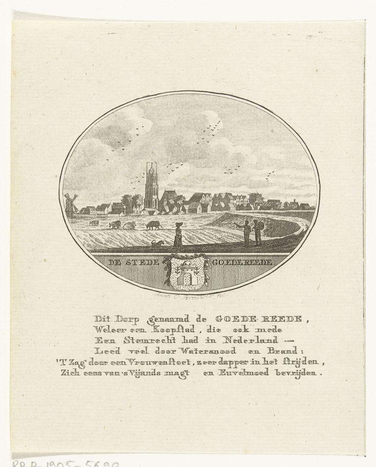 Anna Catharina Brouwer   Gezicht op de stad Goedereede, Anna Catharina Brouwer, unknown, 1796 - 1798  