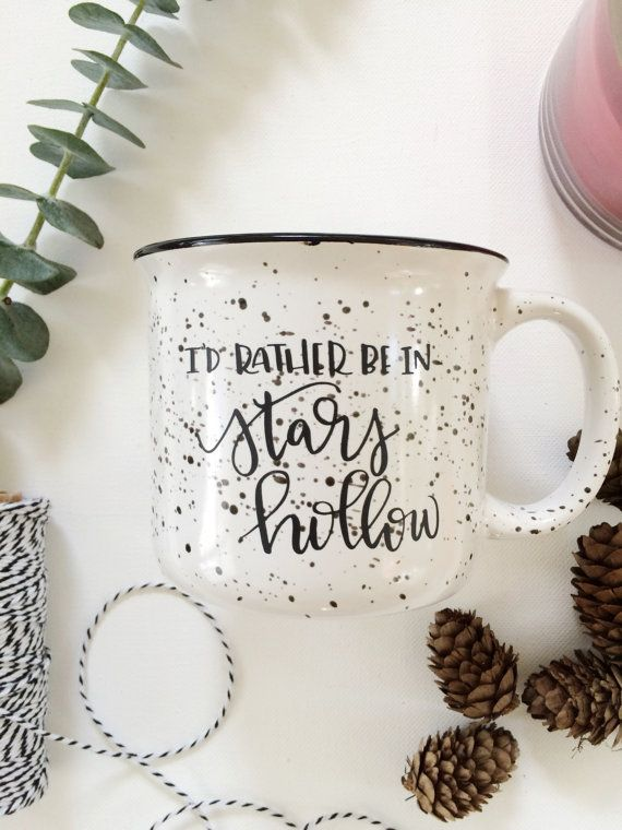 Stars Hollow Coffee Mug 15 oz. Hand Lettered by LittlePaperMama