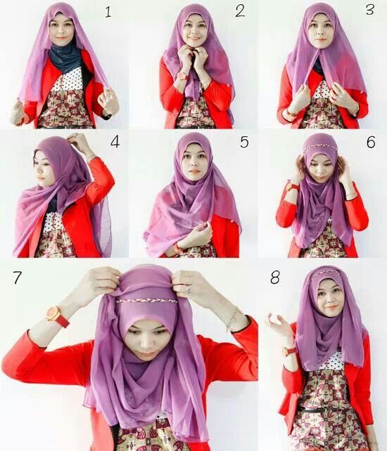 Headband Hijab Tutorial