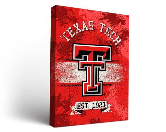 Texas Tech Red Raiders Canvas Wall Art Collegiate by AllCornhole