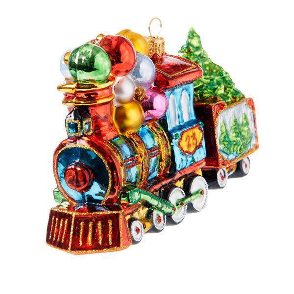 New locomotive with carriage christmas ornament - Fortnum and mason christmas decorations ...