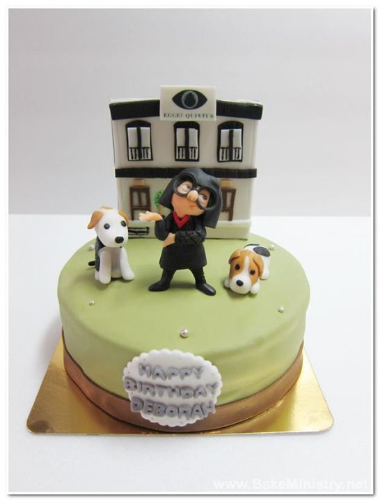 Bake Ministry Edna Mode And Her Dogs 3lbs Cake Cute Cake
