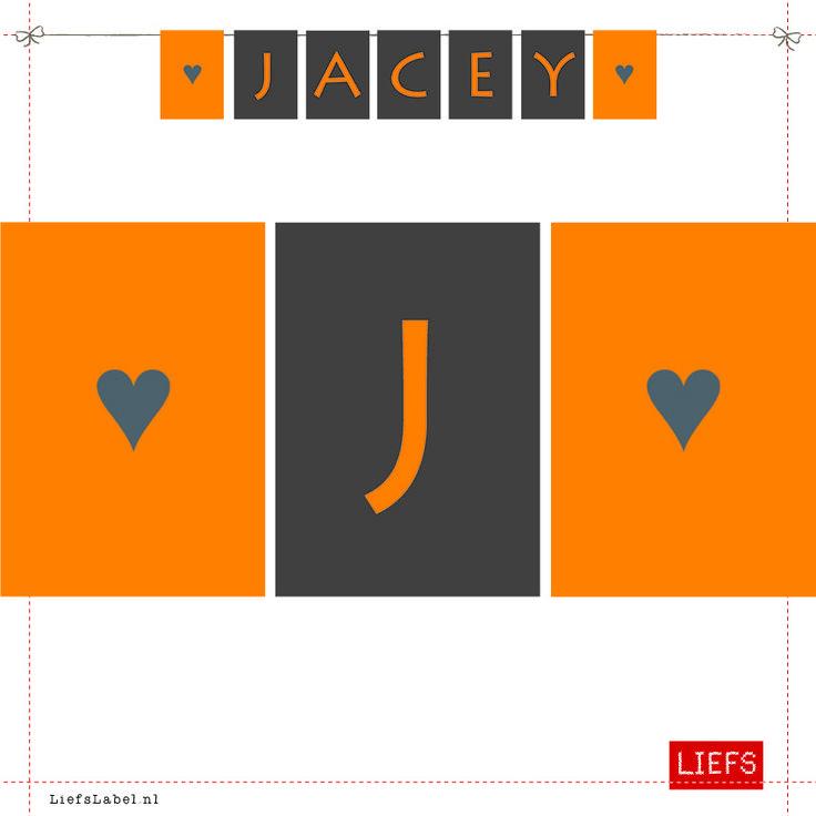 Jacey ♡ Kids ♡ Ontwerp op Maat ♡ Maak ook je eigen slinger! ♡ www.LiefsLabel.nl