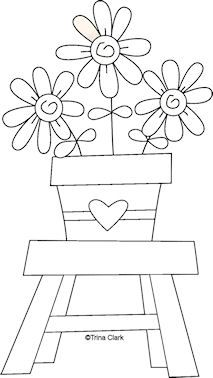 Garden Song 7 - Country Line Art Pattern