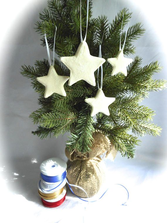 white star ornaments set of 4 christmas star ornaments