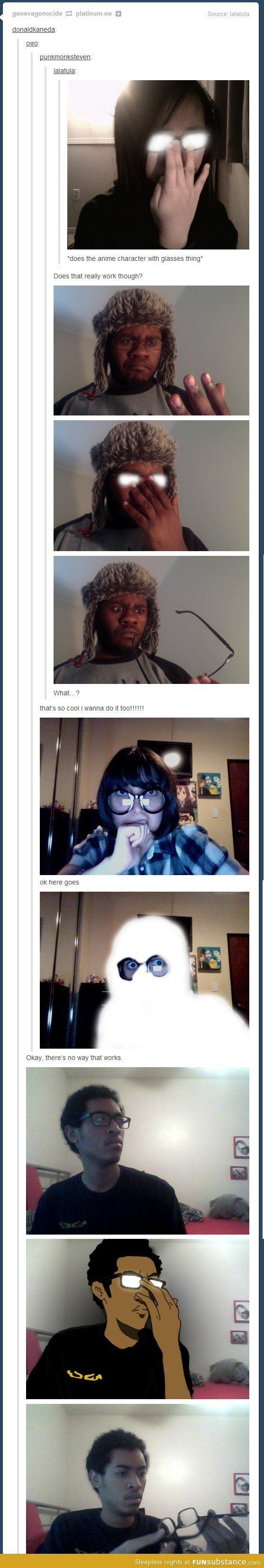 The otaku glasses thing