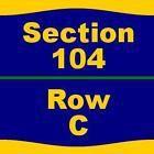 2 Tickets Kansas City Royals (ST) 3/29/17 at Surprise Stadium  104 C