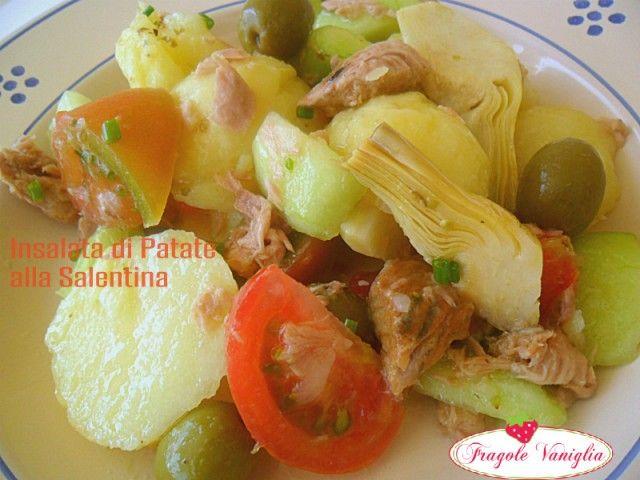 Una fresca insalata di patate alla salentina è l'ideale per un pranzo veloce e stuzzicante nelle calde giornate estive!