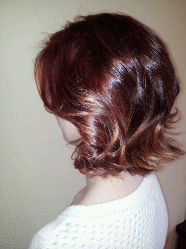 Rose gold subtle ombre on short hair by Bridget House ...