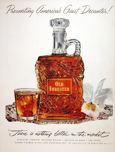 1952 Old Forester Kentucky Bourbon original vintage ad