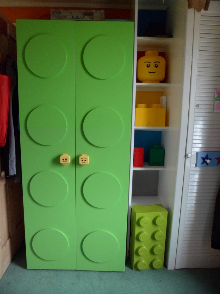 Funky brick design wardrobe made by my talented husband!!