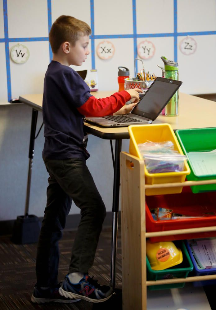 WEST FARGO—Kayla Delzer has decided the Starbucks model is the future of learning. No, you can't get a grande latte with a shot of espresso in the second-grade teacher's room at Legacy Elementary School. But in Delzer's class, and a few others in the West Fargo School District's newest s...