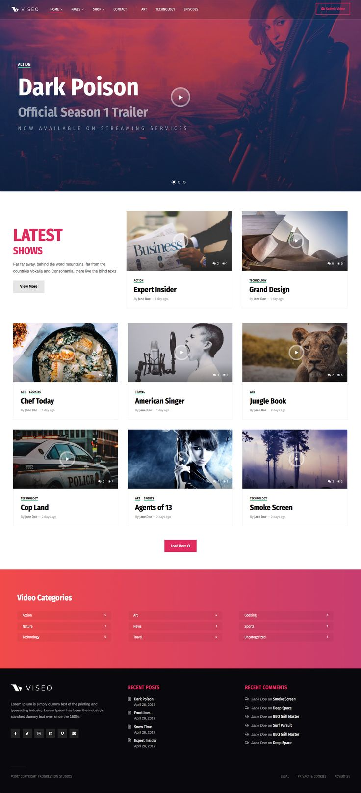 Ad: Viseo - News, Video, & Podcast Theme by ProgressionStudios | ThemeForest 59$