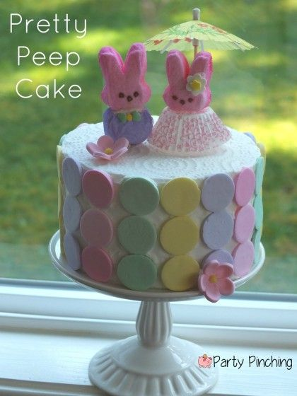 Pretty Peep Cake - Party Planning - Party Ideas - Cute Food - Holiday Ideas -Tablescapes - Special Occasions And Events - Party PinchingEaster Peep, Cake Simple, Cake Tutorial, Food Ideas, Baking Cake, Peep Cake, Wedding Cake, Cute Cake, Easter Ideas