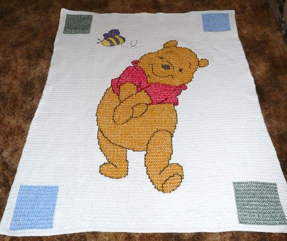 Disney Winnie l'ourson main bonneterie - vraiment vraiment mignon - Afghan Throw