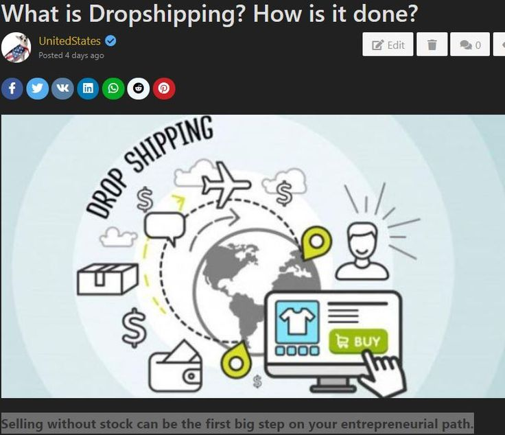 Dropshipping? How is it done? in 2020 Drop shipping
