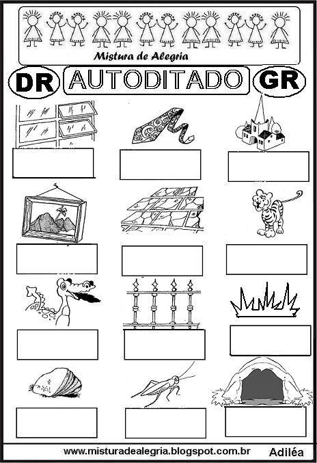 autoditado-letra-DR-GR-alfabetizacao-imprimir-colorir.JPG (464×677)
