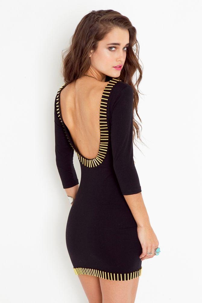Gold Rush Dress - Black
