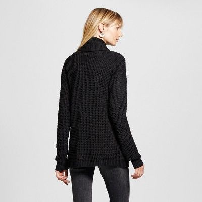Women's Textured Open Layering Cardigan - Merona Black XS