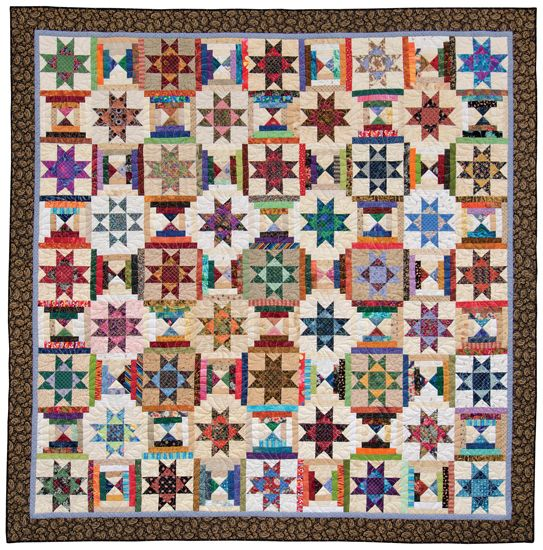 ❤ =^..^= ❤   Scrap-quilting secrets for bed quilts ~ Ohio Star and Courthouse Steps