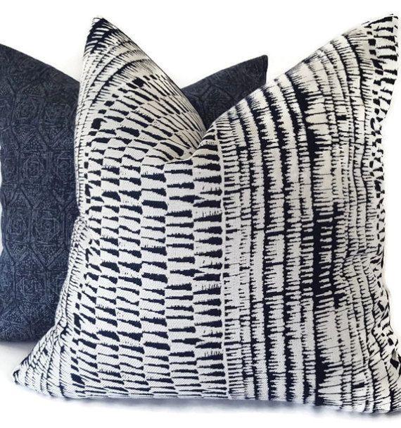 Indigo Outdoor Pillows - Blue Sunbrella Pillows - Sunbrella Pillows - Outdoor Cushions - Decorative Pillow Cover - Outdoor Decor - Sunbrella