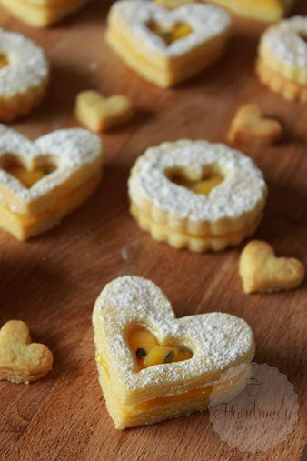 Passionsfrucht gefüllt Cookies