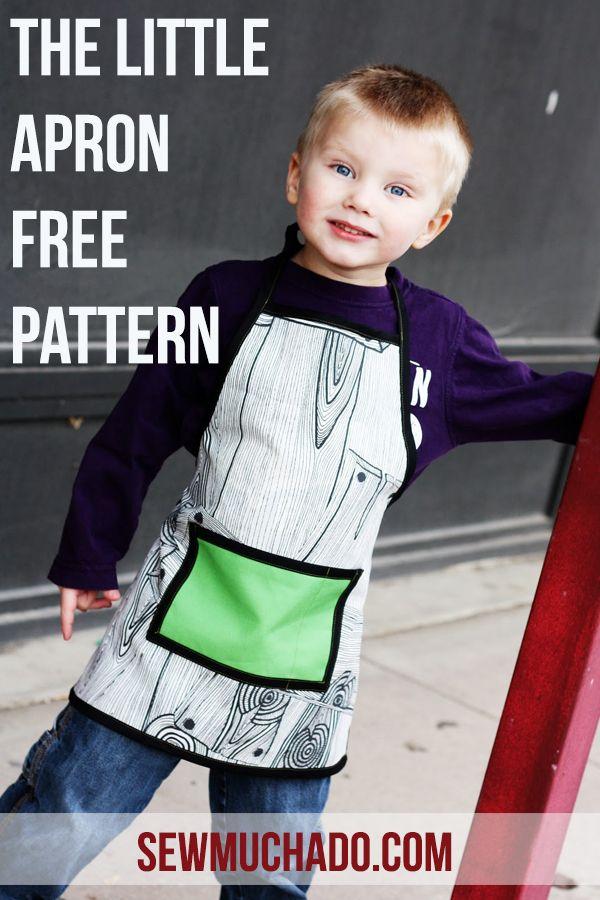 FREE Kids Apron Pattern! #sewmuchado #apronpattern #sewing #sewingpattern #pdfpattern #apron #diy #diyapron #kidscraft #freepattern