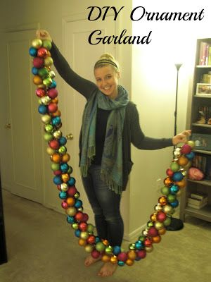 Upside Down Grace: DIY Holiday Ornament Garland christmas ornament garland